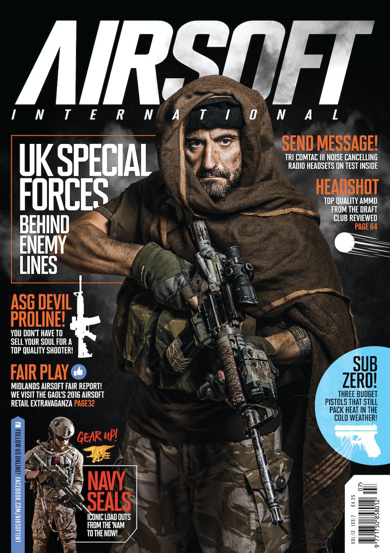 Portada de Black Bulls Ops en la revista inglesa AIRSOFT INTERNATIONAL